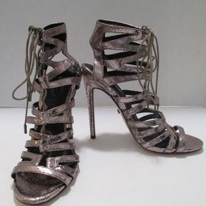 Topshop Lace up Gladiator style Heels Size 7 1/2